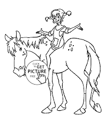 Small Picture on the horse coloring pages for kids printable free Pippi