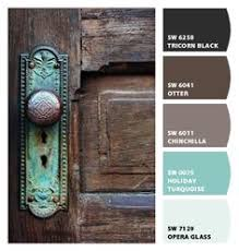 rustic paint colorsLike this shade of blue with brownPaint colors from Chip It by