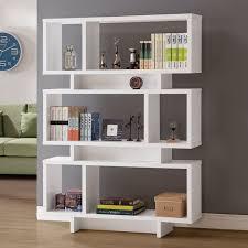 Coaster 801406 Geometric Bookcase in White