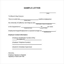 Letter Of Verification Of Employment Sample Letter Verifying Employment Charlotte Clergy Coalition