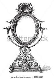 vintage hand mirror clipart. vintage hand mirror drawing - google search clipart