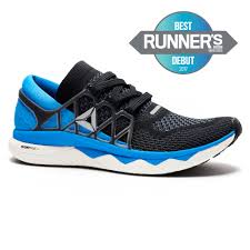 reebok mens running shoes. reebok - men\u0027s floatride run graphite/black/hrizon blue/white/silver mens running shoes n