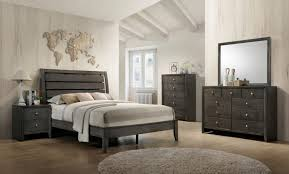 gray king bedroom sets. crown mark b4720k-1-2-11 4pc evan grey king bedroom set w gray sets e