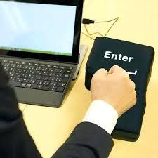 desk punching bag whole creative big enter key desktop sized enter powered stress punch relief sleeping desk punching bag