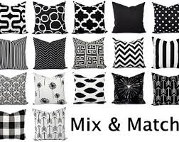 black and white accent pillows.  Accent Black And White Pillow Covers  Pillows Sham  Case Accent Toss Throw In And T