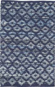 dash and albert denim rag diamond indigo cotton rug for cottage bungalow