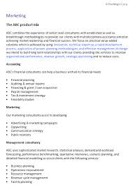 Consultant Business Plan Template For F E Financial