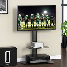 Tv Stands For Lcd Tvs Tv Stand Swivel Mount Stand With Two Shelves Entertainment Center