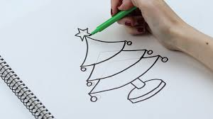 Christmas Tree In Chart Paper How To Draw Christmas Trees With Pictures Wikihow