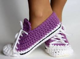 Converse Slippers Crochet Pattern