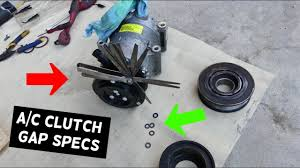 WHAT AC A/C <b>COMPRESSOR</b> CLUTCH GAP SHOULD BE SET AT ...