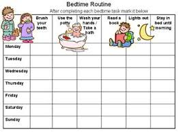 Free Printable Bedtime Routine Chart Customize Online Then