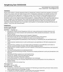quality resumes quality control manager resume sample livecareer