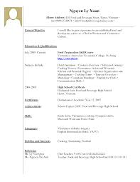 Ideas Of Resume With No Job Experience Sample Great Modern College