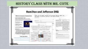 Jefferson Vs Hamilton Venn Diagram Alexander Hamilton And Jefferson Teaching Resources Teachers Pay