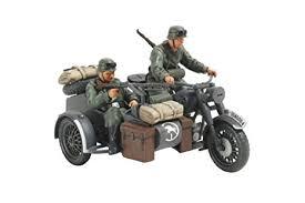 amazon com tamiya models german motorcycle and sidecar toys games