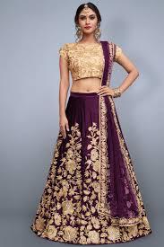 Lehenga Choli Designs Eid Special Best Selling Exclusive Designer Embroidered Art Silk Fabric Purple Lehenga Choli