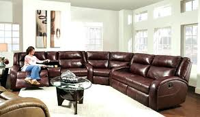 large leather sectional couch innovative reclining in living room rustic with next to big recliners