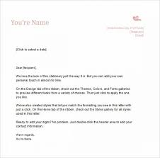 Personal Letterhead Example Template Word Impression Nor Demoexat Com