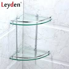 glass shelf holder bathroom