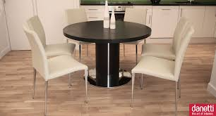 Round Etending Dining Table And Chairs With Chairs