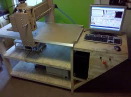 picture of homemade 2 x4 wood cnc router