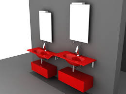 3d model of double sink red bathroom vanity wall mount available 3d file format 3ds 3d studio dwg autocad max autodesk 3ds max