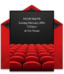 Movie Night Invitation Template Free Free Movie Tv Online Invitations Punchbowl