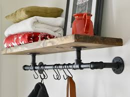How To Build A Coat Rack Shelf Inspiration DIY Industrial Coat Rack Beneath My Heart