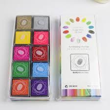 kids arts supplies finger painting ink pad 20pcs box diy finger paint acrylic paint washable
