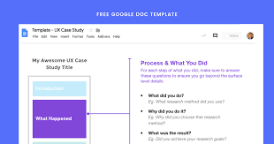 Ux Case Study Template How To Write A Ux Case Study In 4 Steps