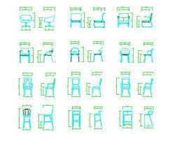 dining chair side elevation cad block. chair plan cad dining side elevation block f