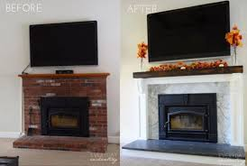 fresh old fireplace idea 12 brick makeover to update your step by mantel renovation world stone cover bedroom for opening