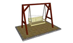 porch swing stand plans myoutdoorplans free woodworking backyard a