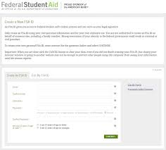 how to create online signature fsa id for signing the fafsa and more edvisors
