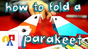 Art For Kids How To Fold An Origami Bird Parakeet Youtube