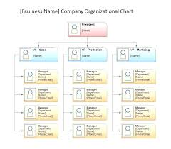 Microsoft Visio Org Chart Templates Organization Template Printable