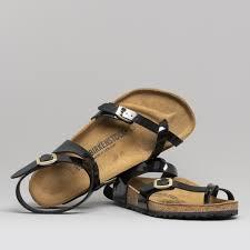 birkenstock yara 1005163 las cross strap sandals patent black shuperb