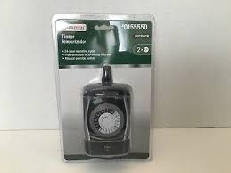 utilitech 2 outlet indoor outdoor timer