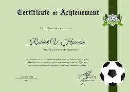 Achievement Awards Templates Football Achievement Award Template