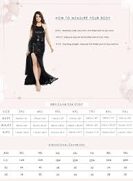 Curve Size Guide A N Luxe Label