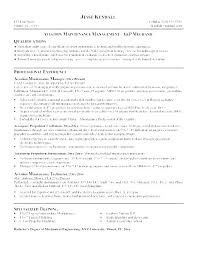 Maintenance Resume Sample Apartment Maintenance Supervisor Resume ...