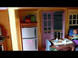 Loving Family Kitchen Furniture Fisher Price Loving Family Large Doll House Tour Youtube
