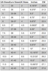 Australia Vs Us Shoe Size Chart Shoe Size Chart Styled By Elizabeth