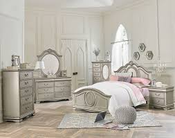 Bedroom:Jessica Silver Bedroom All American Furniture Buy Less Chest Vanity  Set Decorationssilver 98 Aesthetic