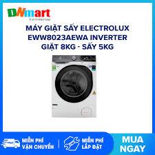 Máy giặt sấy Electrolux EWW8023AEWA Inverter Giặt 8kg - Sấy 5kg 1200  vòng/phút Hiệu suất sử dụng điện:20.6 Wh/kg 15 Chương trình (Miễn phí vận  chuyển và lắp đặt)