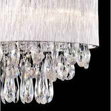 32 oval ribbed glass shade crystal drop island ceiling fixture light pendantceiling lights