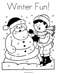 December Coloring Pages Color Bros