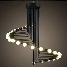 wrought iron pendant lamps black metal light fittings modern vintage loft spiral staircase lamp lighting marvellous