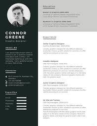 graphics design resumes free experience graphic designer resume cv template in